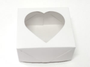Caixa 4 Visor Coração (Branca)