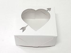 Caixa 4 Visor Coração Flecha (Branca)