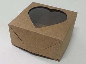Caixa 4 Visor Coração (Kraft)