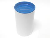 Cofrinho para Lembrancinhas Azul Escuro Pl�stico, Medidas: 6 x 6 x 10 cm