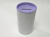 Cofrinho para Lembrancinhas Lilas Plástico, Medidas: 6 x 6 x 10 cm