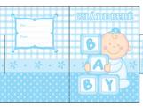 Convite Ch� de Beb� Baby Menino Ref-6215, Medidas: 6.7 x 9.2 cm