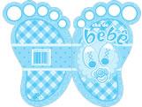 Convite Chá de Bebê Pezinho Menino Ref-6219