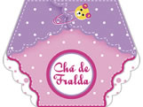 Convite Chá de Fralda Menina Ref-6223
