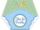 Convite Chá de Fralda Menino Ref-6221