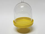 Cúpula 10cm Amarela, Medidas: 10 x 10 x 15 cm