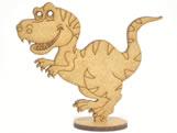 Recorte Dinossauro MDF 3mm - Cod. 1278, Medidas: 7.5 x 0.3 x 8 cm