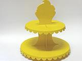 Suporte 2 Andares Amarelo, Medidas: 26 x 26 x 27 cm