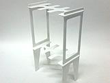 Suporte 12 Tubetes Branco, Medidas: 15 x 9 x 27 cm