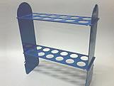 Suporte 24 Tubetes Azul Escuro, Medidas: 28 x 9 x 30 cm