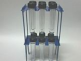 Suporte 12 Tubetes Azul Escuro, Medidas: 15 x 9 x 27 cm