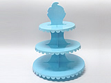 Suporte 3 Andares Azul Claro, Medidas: 31 x 31 x 39 cm