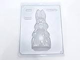Forma com Silicone Coelha Gravida Pequena Frente 95g Ref.825 BWB
