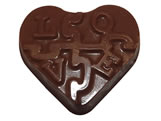 Forma Coração Doce de Amor 12g Ref.9412 BWB, Medidas: 24 x 18.5 x 0.9 cm