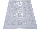 Forma Mini Casal Noivos 2,5g Ref.1374 BWB, Medidas: 24 x 18.5 x 0.5 cm