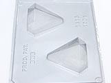 Forma com Silicone Ovo Diamante 100g Ref.1416 BWB