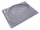 Forma com Silicone Ovo de Páscoa Texturizado Coração 500g Ref.9333 BWB