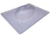 Forma com Silicone Ovo de Páscoa Texturizado Pluma 250g Ref.9335 BWB, Medidas: 24 x 18.5 x 5 cm