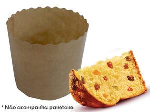Forma Panetone 500g Chocotone Ref.FPT500, Medidas: 13 x 13 x 9 cm