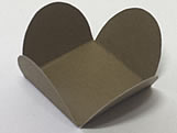 Caixeta Dobravel Papel Lisa Ouro, Medidas: 3.5 X 3.5 X 2.5 cm