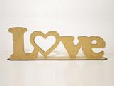 Frase Love MDF 3mm - Cod. 1288, Medidas: 37 x 0.3 x 12 cm