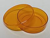 Latinha Laranja Pote Translucido Ref.9347 BWB, Medidas: 5.4 x 5.4 x 1.8 cm