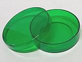 Latinha Verde Pote Translucido Ref.9351 BWB, Medidas: 5.4 x 5.4 x 1.8 cm