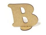 Letra B Madeira MDF 7cm - Cod. 842, Medidas: 7 x 0.3 x 7 cm