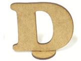Letra D Madeira MDF 15cm - Cod. 1070