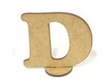 Letra D Madeira MDF 7cm - Cod. 844