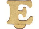 Letra E Madeira MDF 15cm - Cod. 1071