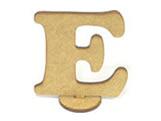 Letra E Madeira MDF 7cm - Cod. 845, Medidas: 6.5 x 0.3 x 7 cm