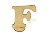 Letra F Madeira MDF 7cm - Cod. 846, Medidas: 6.5 x 0.3 x 7 cm