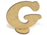 Letra G Madeira MDF 15cm - Cod. 1073