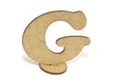 Letra G Madeira MDF 7cm - Cod. 847, Medidas: 7.5 x 0.3 x 7 cm