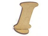 Letra I Madeira MDF 15cm - Cod. 1075