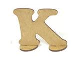 Letra K Madeira MDF 7cm - Cod. 851, Medidas: 8 x 0.3 x 7 cm