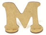 Letra M Madeira MDF 15cm - Cod. 1079