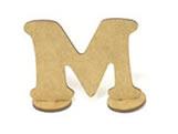Letra M Madeira MDF 7cm - Cod. 853, Medidas: 8.5 x 0.3 x 7 cm