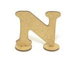 Letra N Madeira MDF 7cm - Cod. 854, Medidas: 8 x 0.3 x 7 cm