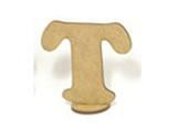 Letra T Madeira MDF 7cm - Cod. 860, Medidas: 7 x 0.3 x 7 cm