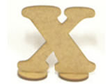 Letra X Madeira MDF 15cm - Cod. 1089