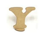 Letra Y Madeira MDF 7cm - Cod. 864, Medidas: 8 x 0.3 x 7 cm
