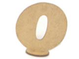 Numero 0 Madeira MDF 7cm - Cod. 1093