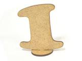 Numero 1 Madeira MDF 7cm - Cod. 1094