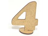Numero 4 Madeira MDF 7cm - Cod. 1097