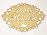 Placa Decorativa Minha Princesa MDF 3mm - Cod. 965