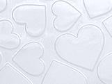 Placa de Textura 50cm x 24cm Coração Grande Ref.9384 BWB