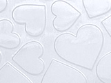 Placa de Textura Coração G Ref.9384 BWB, Medidas: 50 x 24 x 0.2 cm