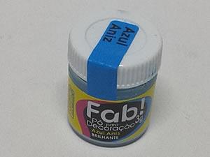Pó para Decoração 3g Cintilante Azul Aniz, Medidas: 3 x 3 x 2.9 cm